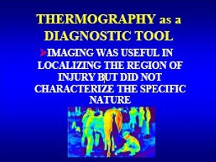 thermography as a diagnostic tool